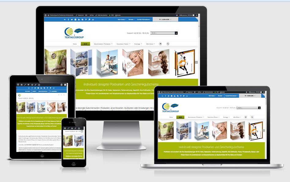 Onlineshop TEXTAG GROUP für Postkarten, Ansichtskarten, Gutscheinkarten, Grußkarten