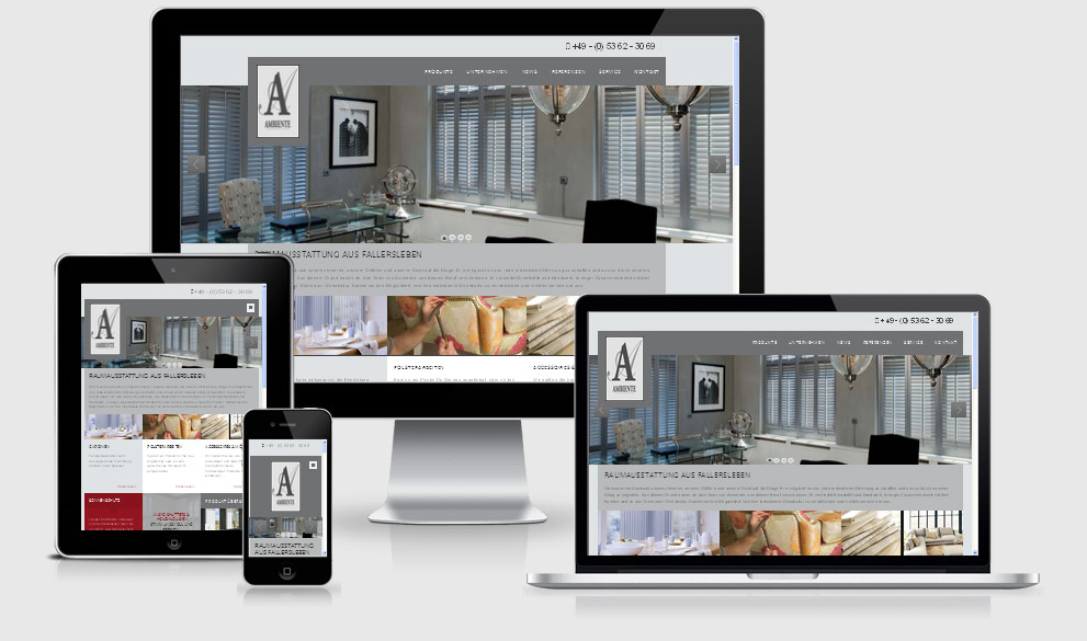 Responsive Website Ambiente Raumausstattung