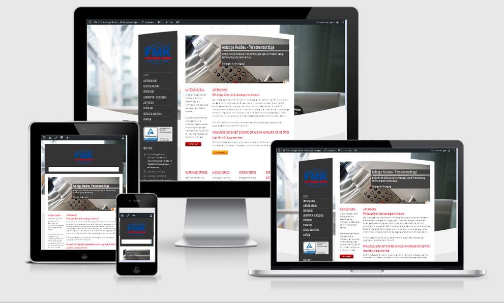 Re-Design der bestehenden Website auf Responsive Design