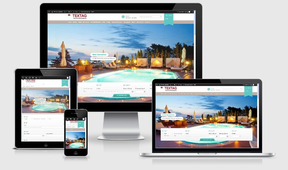 Responsive Tourismus Portal Website Design Vorlage