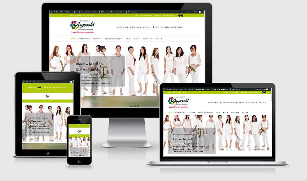 Webdesign Referenz Responsive Webdesign: Blumen Ruprecht, Gleisdorf