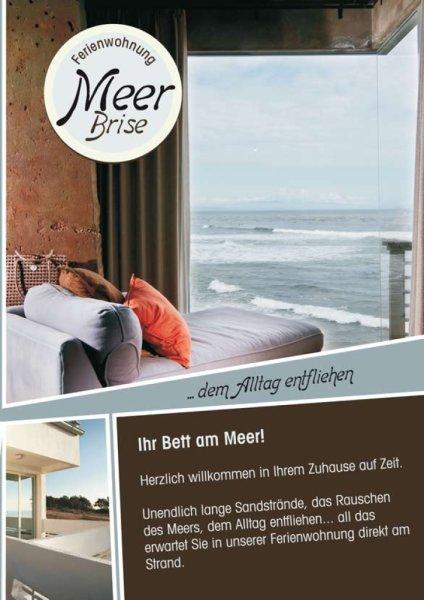 Grafik Design Vorlage kaufen » Ausgefallener Flyer für Ferienwohnungen