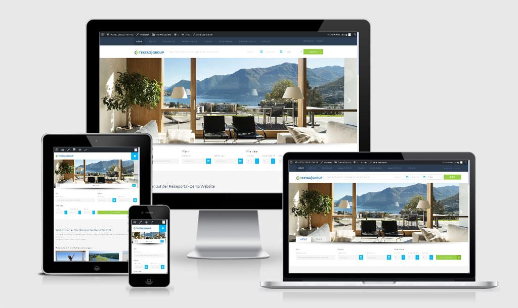 Responsive Hotel Portal Website Design Vorlage