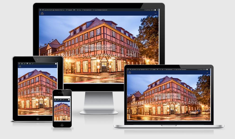 Reponsive Webdesign Referenz: Luxuslodge Wernigerode, Halberstadt, - in Bearbeitung