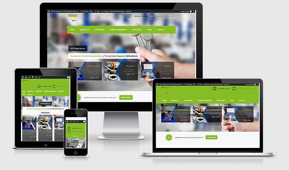 AUTOteamLast Neuerstellung der Responsive Website, Webdesign Referenz