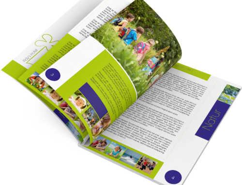 """Familienhotel Broschüre Design Vorlage """"Leos Kidy Hotel"""" DIN A4"""