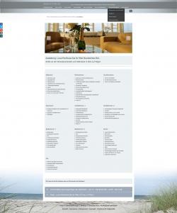 Responsive Webdesign Referenz Website Luxusferienwohnungen Binzer Perlen, Binz, Rügen, Ostsee, Norddeutschland