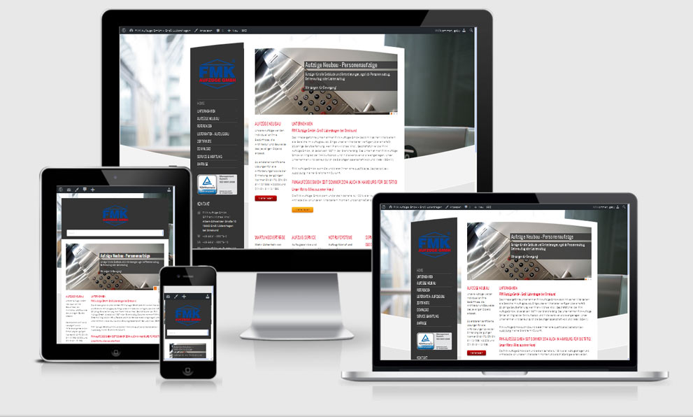 Re-Design der bestehenden WordPress Website auf Responsive Design