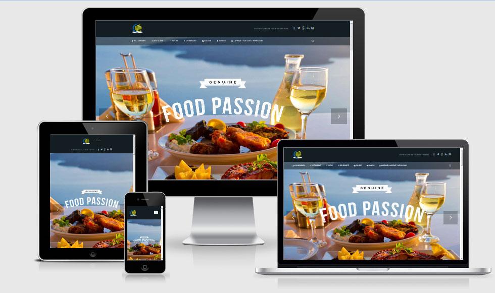 Webdesign Vorlage: Onepage für Restaurants und Cafes