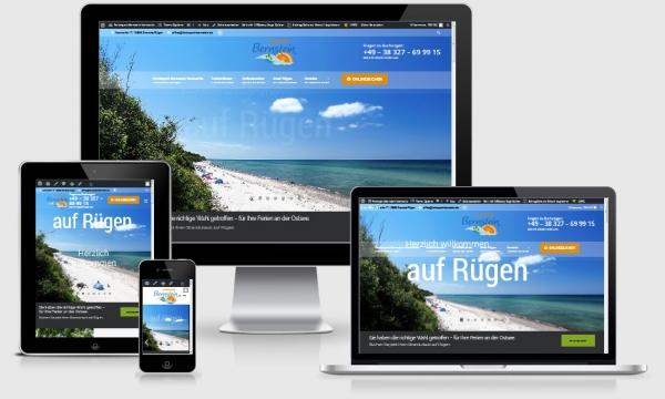 Reponsive Webdesign Referenz Ferienpark Bernstein, Nonnevitz auf Rügen