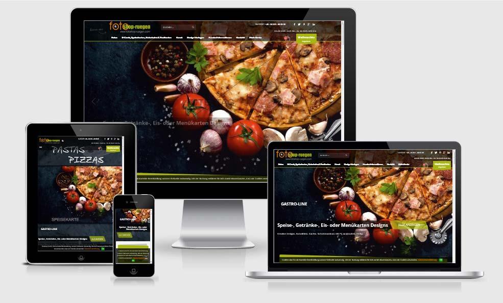 Webdesign-Referenz: Onlineshop fotoshop-ruege.vom