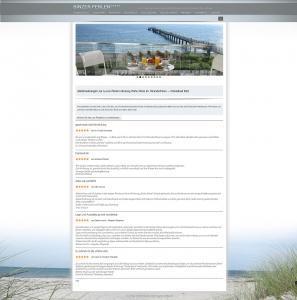 Responsive Webdesign Referenz Ferienwohnungen Binzer Perlen, Binz, Rügen, Ostsee