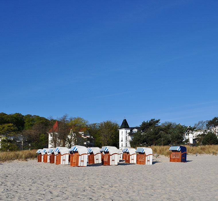 Strandkörbe in Binz - Landschafts-Fotografie
