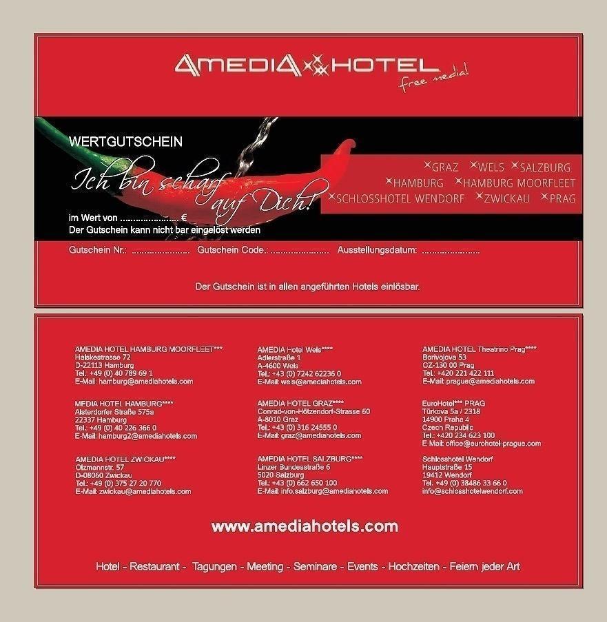 Grafik & Design Referenzen: Amedia Hotels - Gutscheine und USB-Sticks