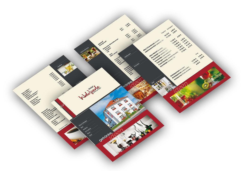Grafik & Design Referenzen: Hotel Waldperle - Getränkekarten