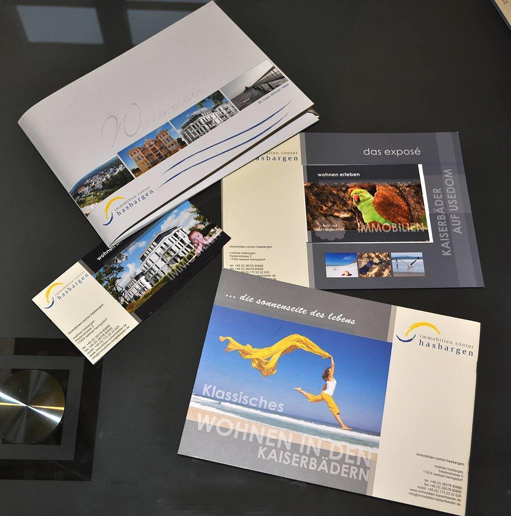 Grafik & Design Referenzen: Immobilien Hasbargen - Exposés, Flyer, Broschüren