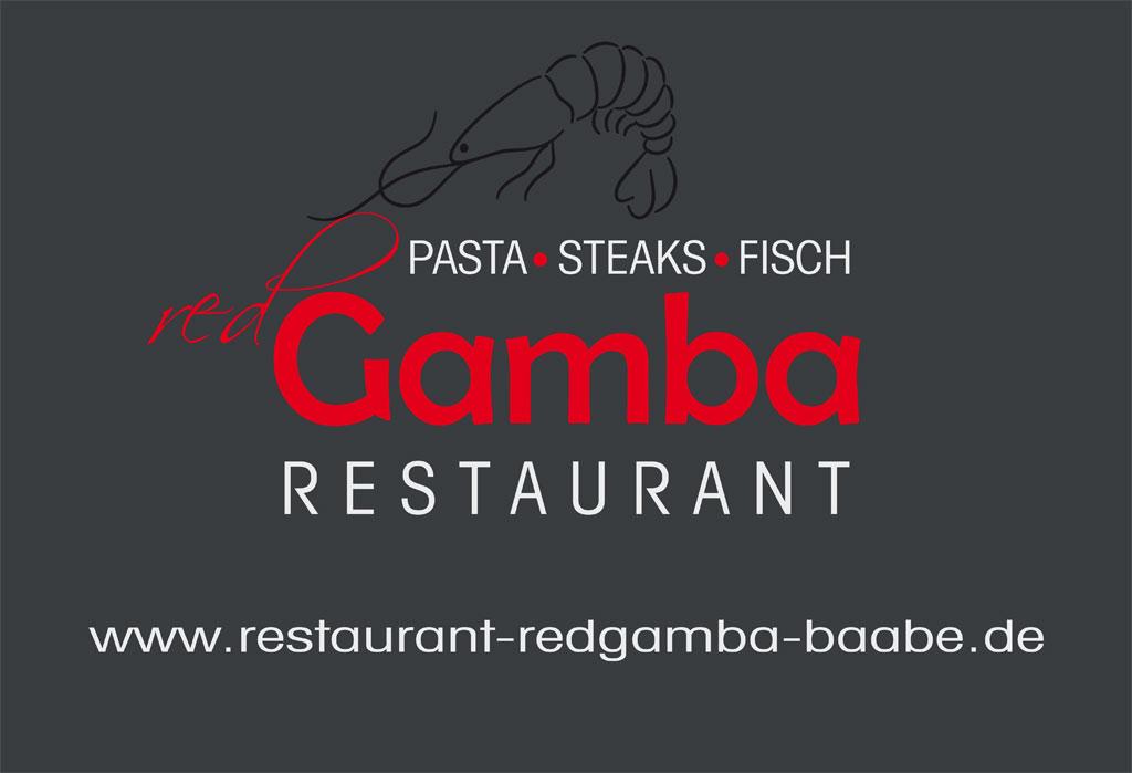 Grafik & Design Referenzen: Restaurant Red Gamba, CD-Entwicklung