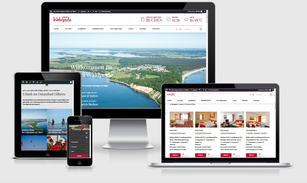 Re-Design - Responsive Website Hotel Waldperle, Göhren auf Rügen