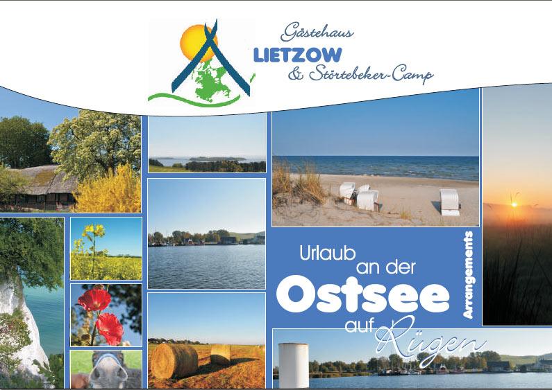 Grafik & Design Referenzen: Störtebeker Camp & Gästehaus Lietzow