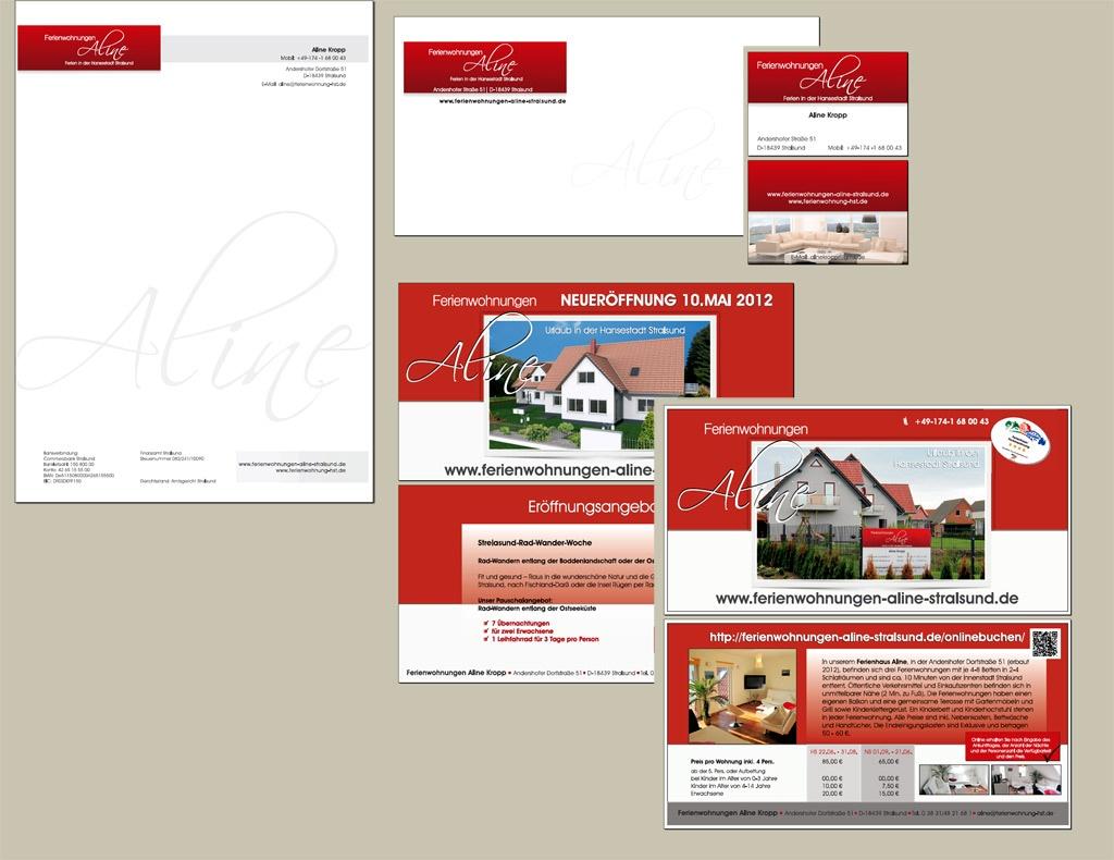 Grafik & Design Referenzen: Ferienwohnungen Aline, Stralsund