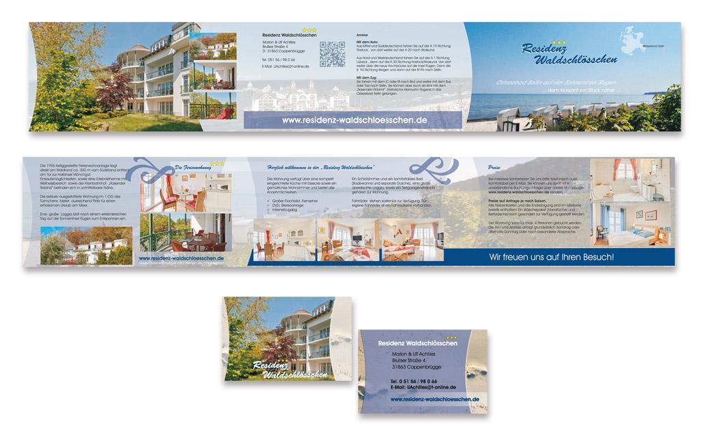 Grafik & Design Referenzen: Residenz Strandschlösschen Baabe