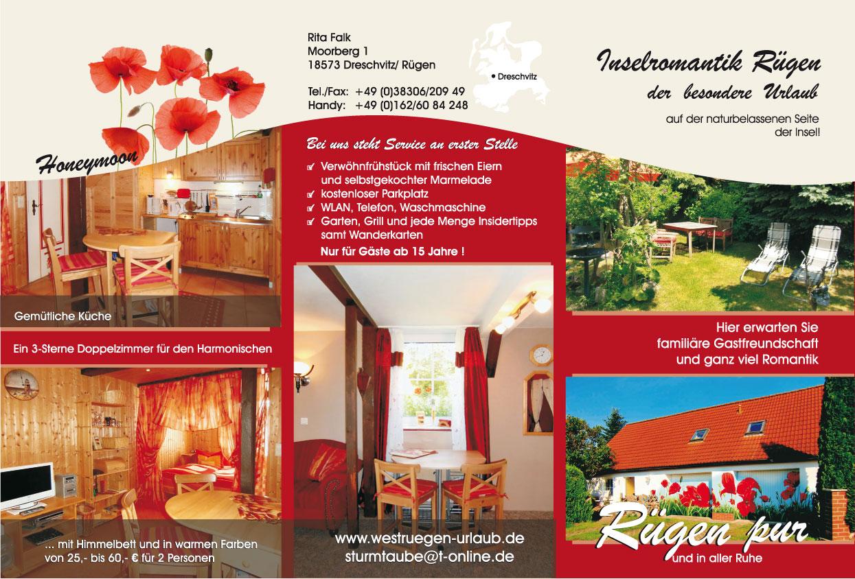 Grafik & Design Referenzen: Ferienwohnungen Inselromantik Rügen