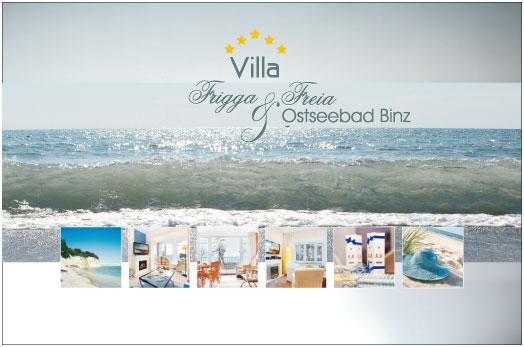 Grafik & Design Referenzen: Villa Frigga & Freia, Binz