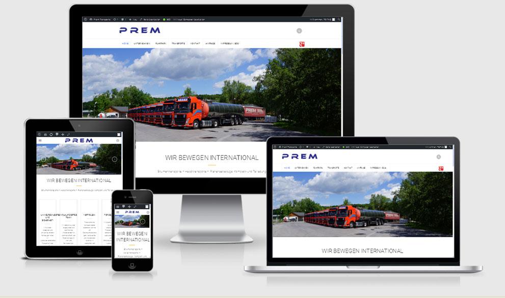 Prem Transportgesellschaft mbH, Reponsive Webdesign