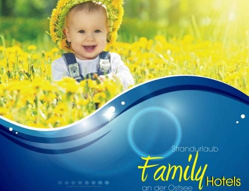 Grafik Design Vorlage Familiyhotels Broschüre