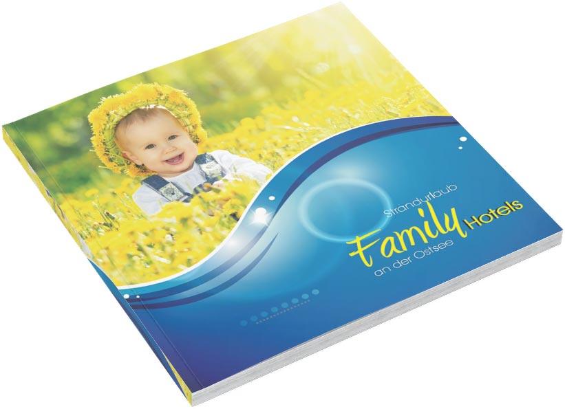 Familienhotel Broschüre Vorlage - Grafik Design Vorlage, Werbeagentur TEXTAG GROUP, Putbus
