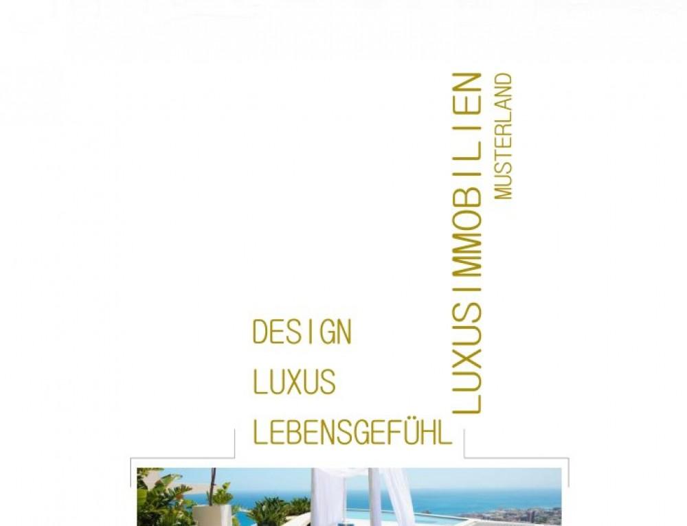 Grafik Design Vorlage WHITE & GOLD
