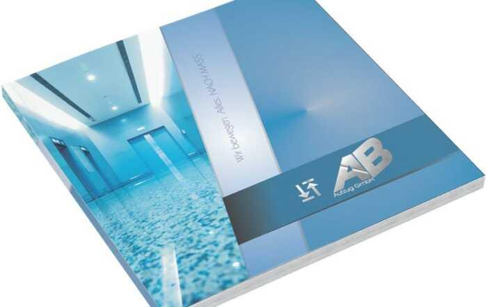 """Design Vorlage – Broschüre """"Technik – für Gewerbe & Industrie"""