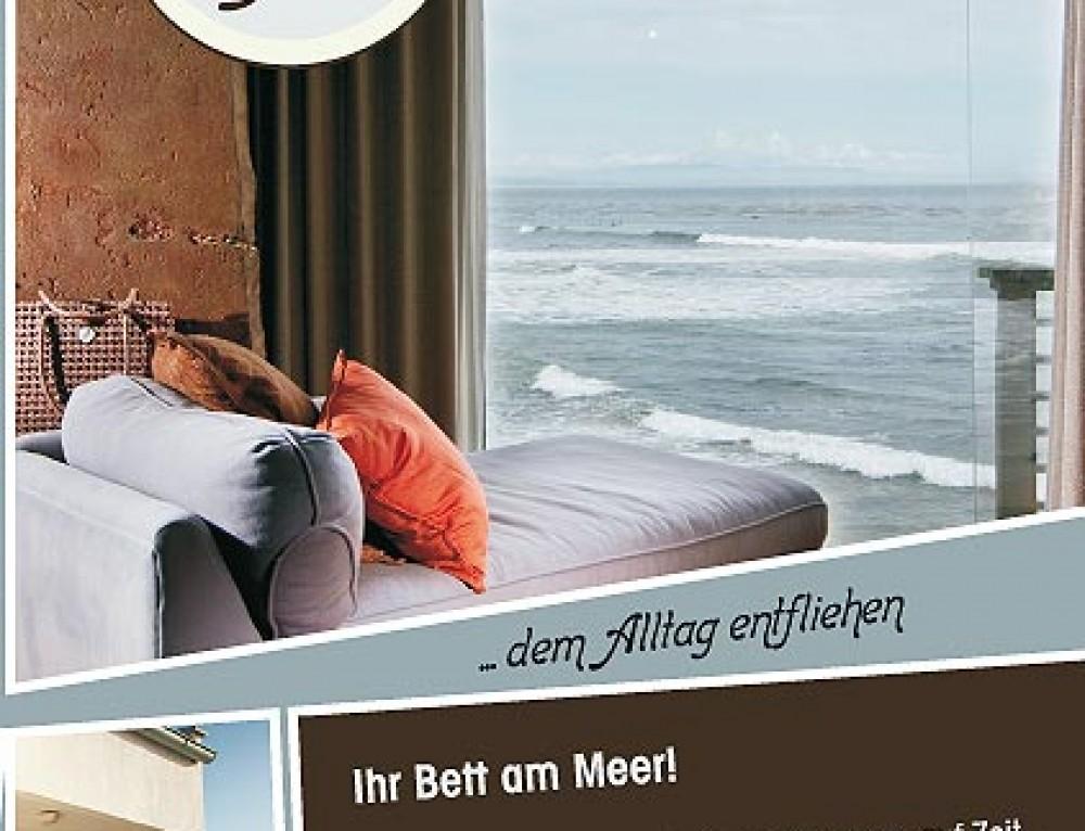 Grafik Design Vorlage Flyer Ferienwohnung