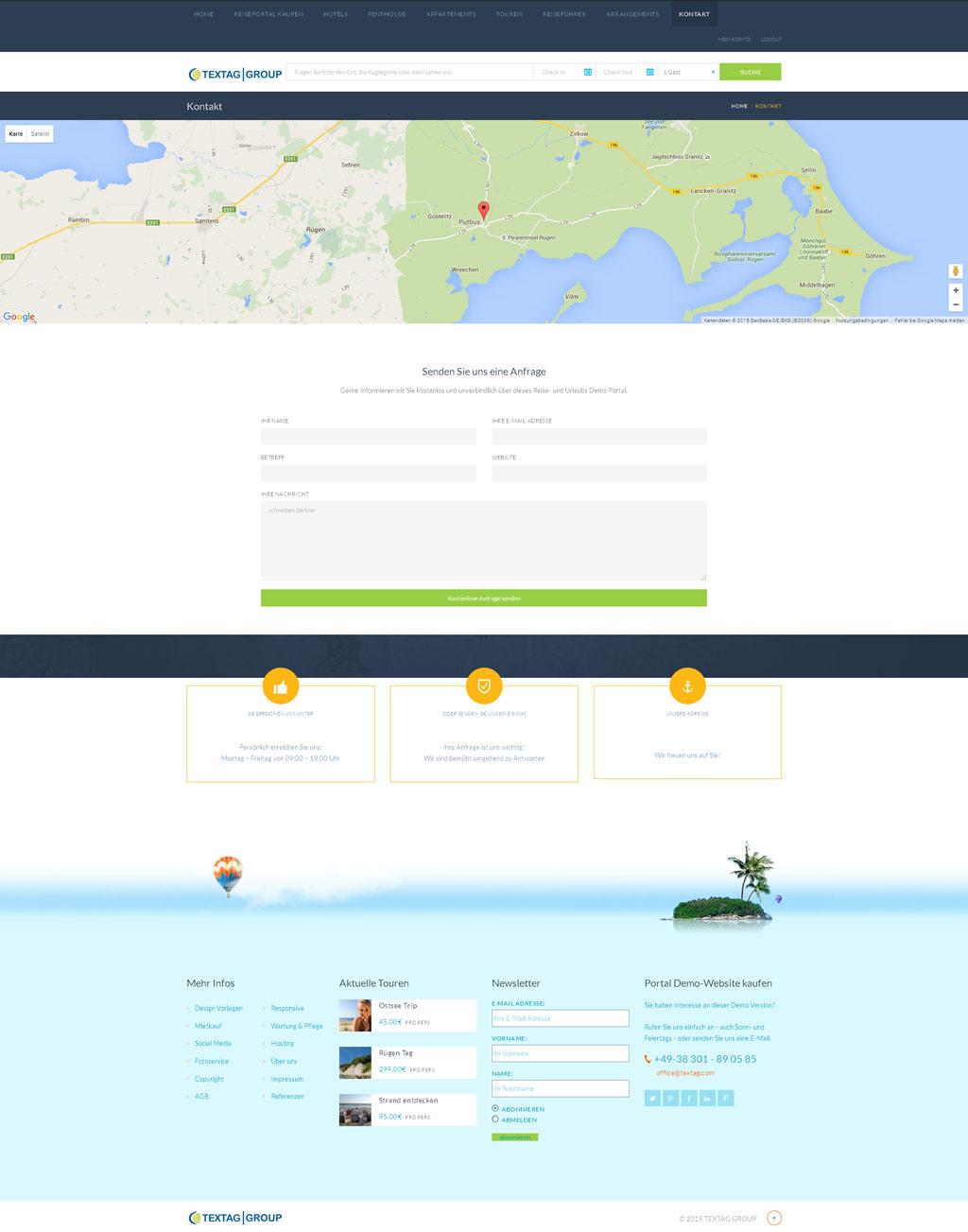 Responsive Hotel Resort Website Design Vorlage » TEXTAG GROUP ...