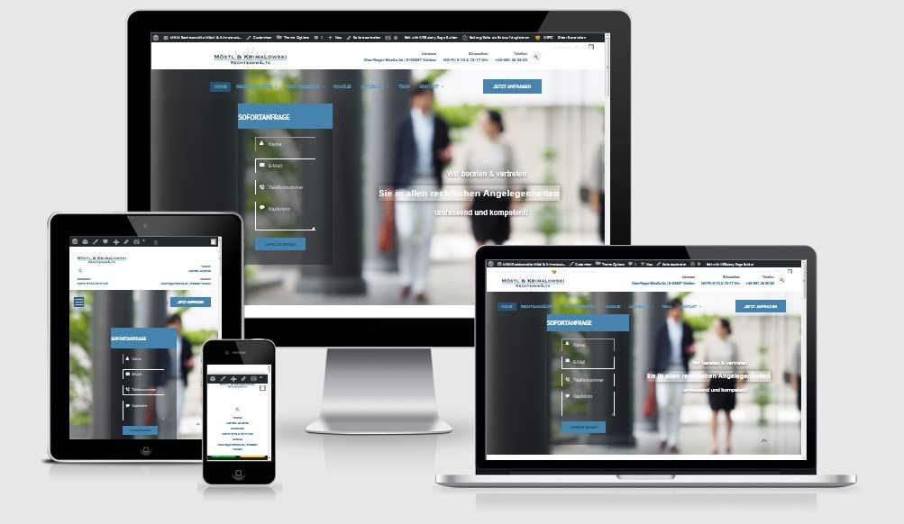 Responsive Website Referenz: MKM Rechtsanwälte, Möstl & Krimalowski, Weiden