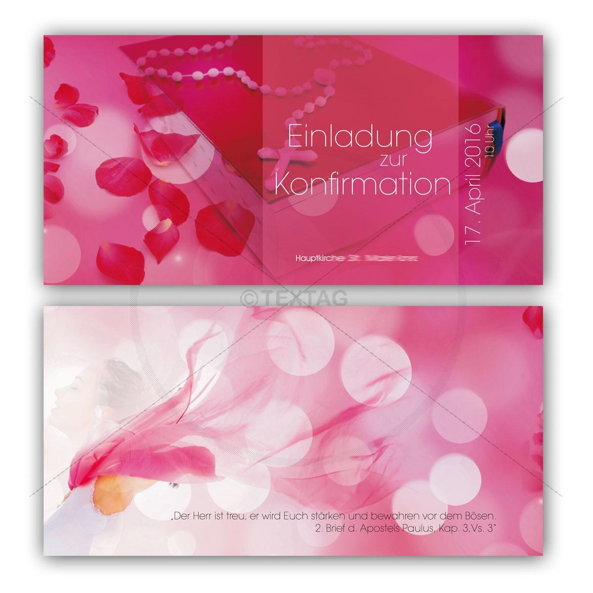 Grafik & Design Referenzen: Klappkarte - Einladung zur Konfirmation