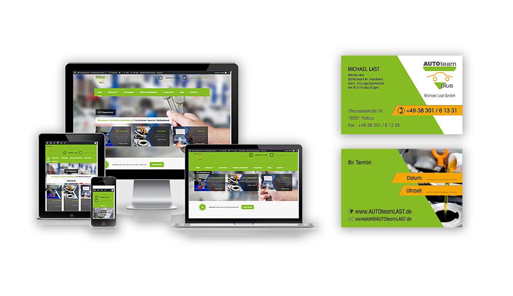 Webdesign Referenz: AUTOteamLAST, Putbus - OT Lauterbach - ehemalig Last & Mohnke: Neuerstellung der Responsive Website mit WordPress