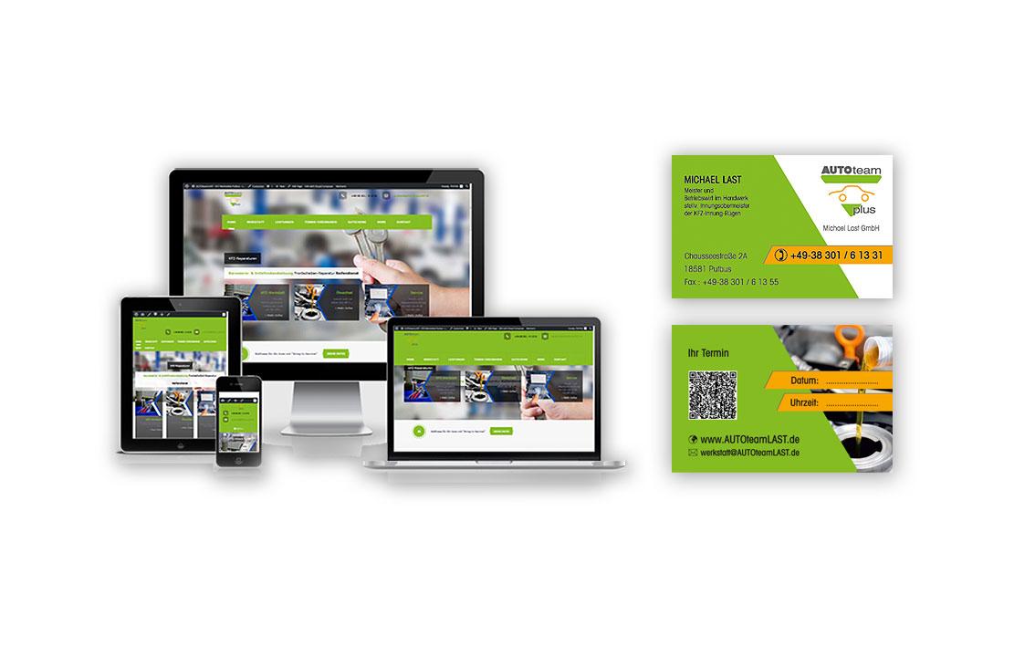 Grafik & Design Referenzen - Visitenkarte und Responsive Website: AUTOteamLAST