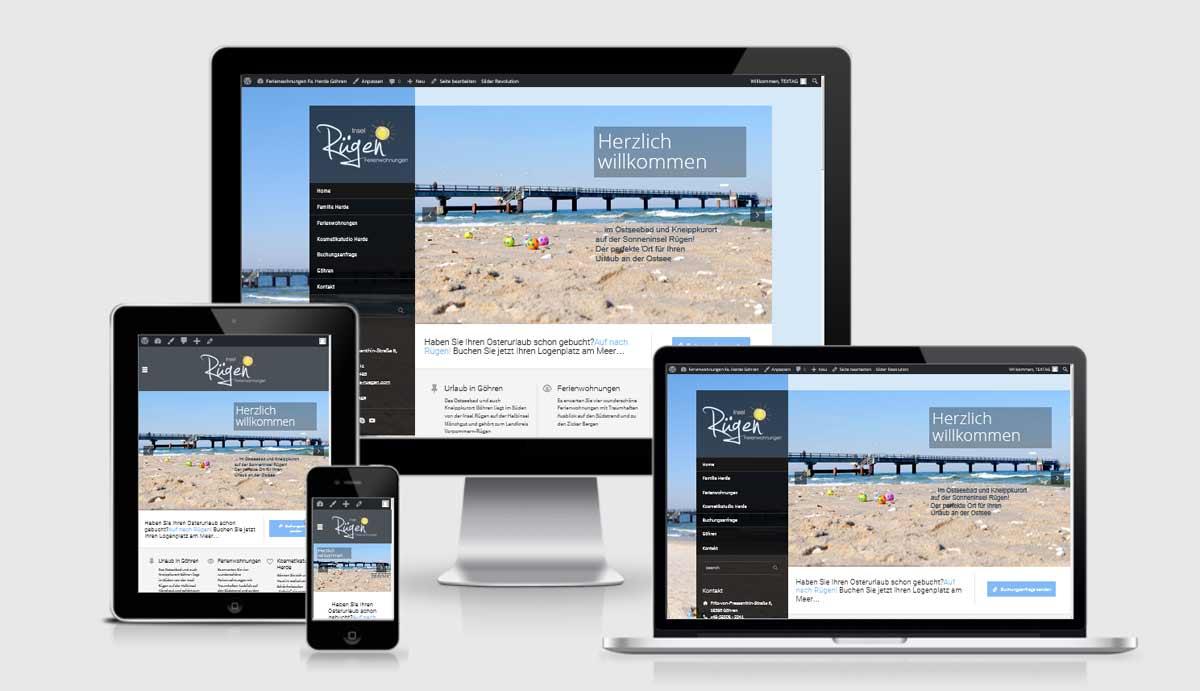 Referenz Responsive Website - Insel Rügen Ferienwohnung - Re-Design der bestehenden Website