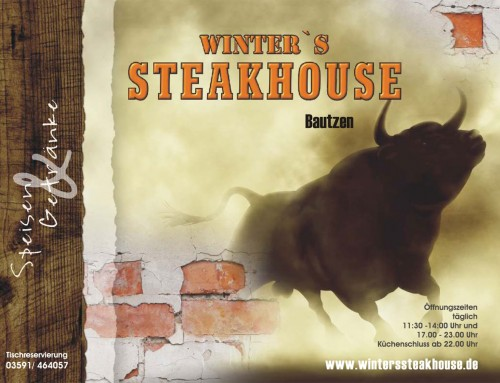 Speisekarte – Winters Steakhouse Bautzen – Grafik & Design Referenzen