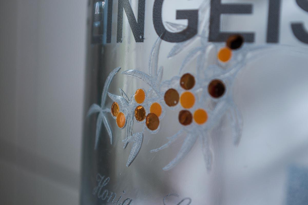 Grafik & Design Referenzen: extravagante Flaschenetiketten auf transparenter Folie, Feingeist, Rügener Premium Spirituosen, www.gourmet-market.de