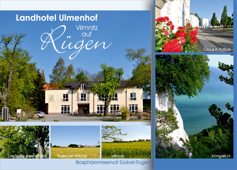 Grafik & Design Referenzen: Postkarte DIN A6, Landhotel Ulmenhof, Vilmnitz