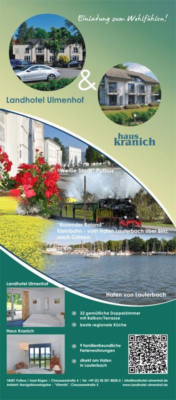 Grafik & Design Referenzen: Roll UP, Landhotel Ulmenhof, Putbus OT Vilmnitz
