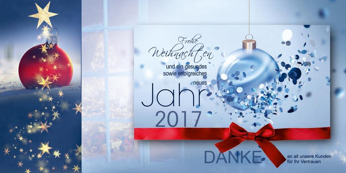 Grafik & Design Referenzen: geschäftliche Weihnachtskarte, Weihnachtsflyer DIN lang, FMK Aufzüge Knoll GmbH