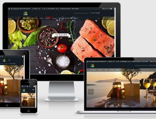 Website für Restaurants: One Page Webdesign Vorlage