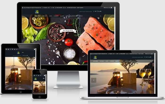 Website für Restaurants: One Page Webdesign Vorlage