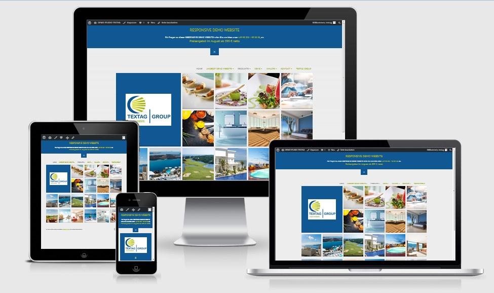 Responsive Webdesign-Vorlage Angebot für Schnellentschlossene