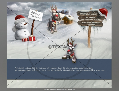 Weihnachts-E-Card, ALPHA-DATENSERVICE GmbH, Braunschweig