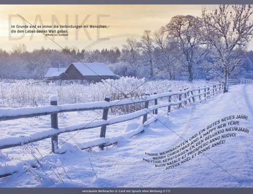 Exklusive Weihnachts-E-Card, Lugnorre, Schweiz
