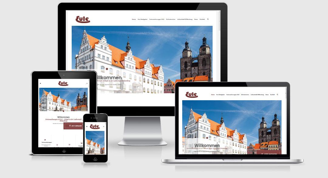 Responsive Webdesign Referenz - Ferienwohnungen EULE, Lutherstadt Wittenberg